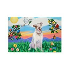 Bright Life / Pit Bull Terrier Rectangle Magnet