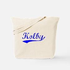 Vintage Kolby (Blue) Tote Bag
