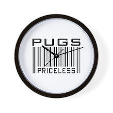 Pugs Priceless Barcode Bar Code Wall Clock