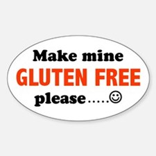 gluten free Oval Decal