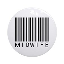 Midwife Barcode Ornament (Round)