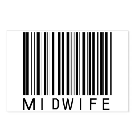 Midwife Barcode Postcards (Package of 8)