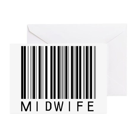 Midwife Barcode Greeting Cards (Pk of 10)