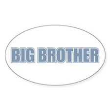 Big Brother Blue Varsity Letters Oval Decal