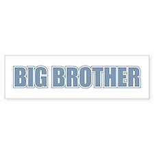 Big Brother Blue Varsity Letters Bumper Car Sticker