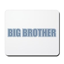 Big Brother Blue Varsity Letters Mousepad