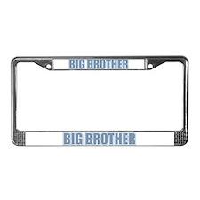 Big Brother Blue Varsity Letters License Plate Fra