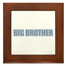 Big Brother Blue Varsity Letters Framed Tile