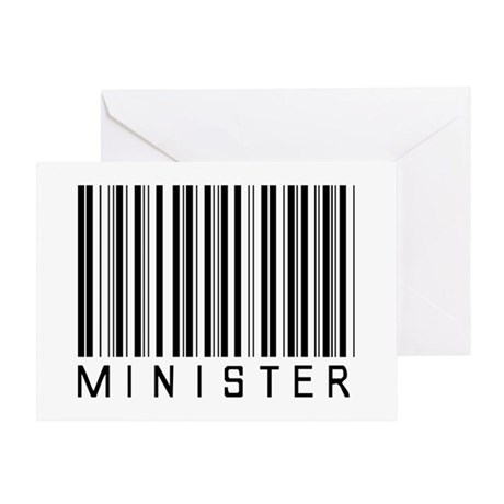 Minister Barcode Greeting Card