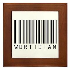 Mortician Barcode Framed Tile