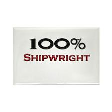 100 Percent Shipwright Rectangle Magnet
