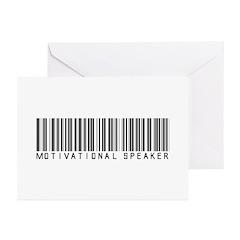 Motivational Speaker Barcode Greeting Cards (Pk of