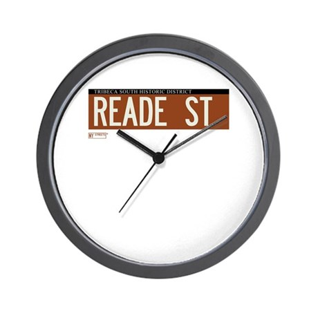 Reade Street in NY Wall Clock