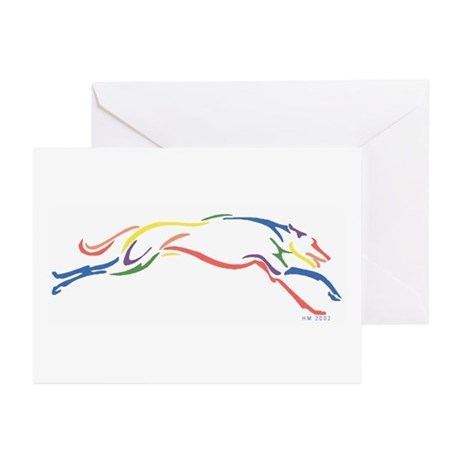Greyhound Note Cards (6)/S&G/Multi