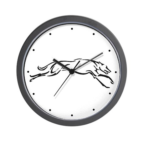 Greyhound Wall Clock/S&G/bw
