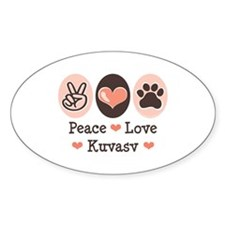 Peace Love Manchester Terrier Oval Decal
