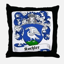Koehler Family Crest Throw Pillow