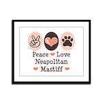Peace Love Neapolitan Mastiff Framed Panel Print