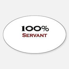 100 Percent Servant Oval Decal