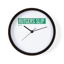 Rutgers Slip in NY Wall Clock