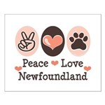 Peace Love Newfoundland Small Poster
