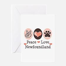 Peace Love Newfoundland Greeting Card