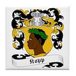 Kopp Family Crest Tile Coaster