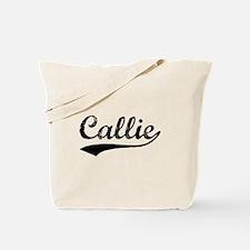 Vintage Callie (Black) Tote Bag