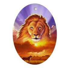 Lion King Oval Ornament