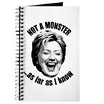 Hillary - Not A Monster Journal