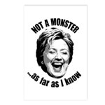 Hillary - Not A Monster Postcards (Package of 8)