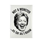 Hillary - Not A Monster Rectangle Magnet