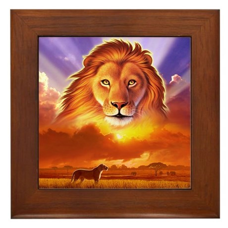 Lion King Framed Tile