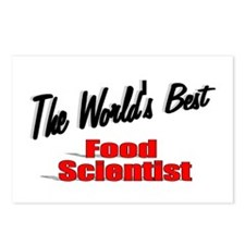 """""""The World's Best Food Scientist"""" Postcards (Packa"""