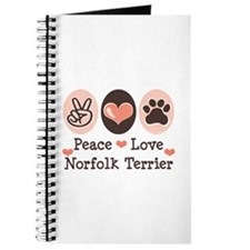Peace Love Norfolk Terrier Journal