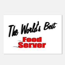 """""""The World's Best Food Server"""" Postcards (Package"""