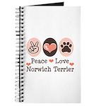 Peace Love Norwich Terrier Journal