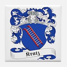 Kratz Family Crest Tile Coaster