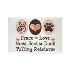 Peace Love Toller Rectangle Magnet