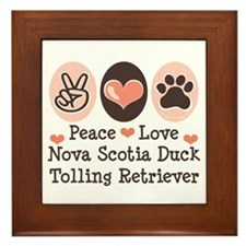 Peace Love Toller Framed Tile