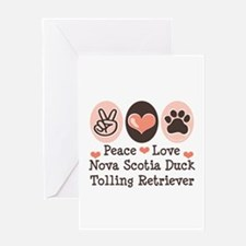 Peace Love Toller Greeting Card