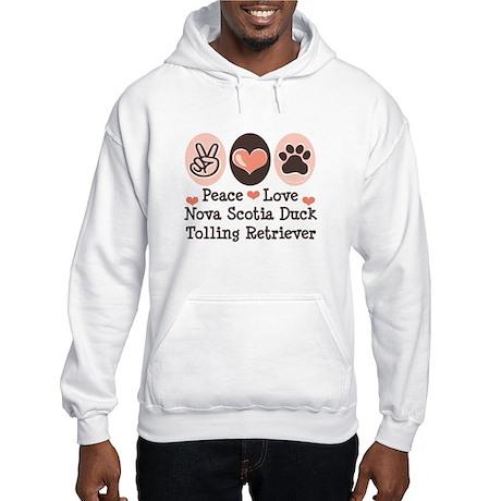 Peace Love Toller Hooded Sweatshirt