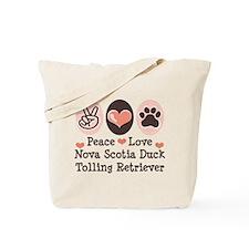 Peace Love Toller Tote Bag