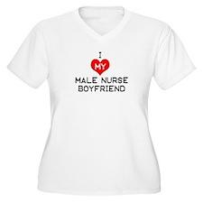 I Love My Male Nurse Boyfrien T-Shirt