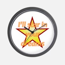 I'll Star In Your Dreams Wall Clock