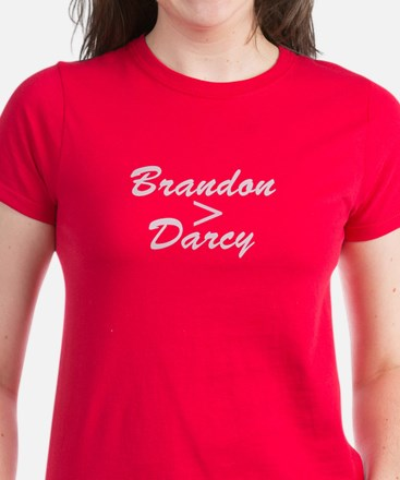 Brandon Is Greater Than Darcy Dark T-Shirt