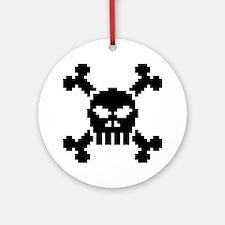 Pixel Skull Ornament (Round)
