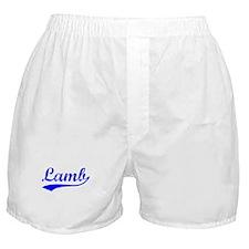 Vintage Lamb (Blue) Boxer Shorts
