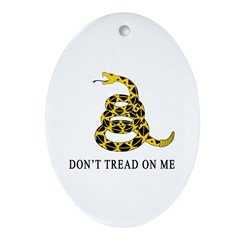 Don't Tread on Me Oval Ornament