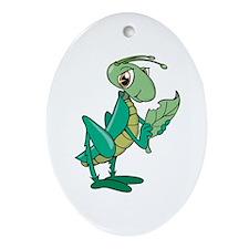 Grasshopper Oval Ornament